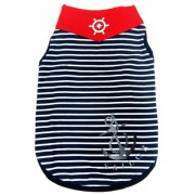 Happy Puppy Sailor Tanktop Blauw Gestreept